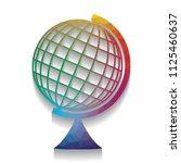 earth globe sign. vector.... | Shutterstock .eps vector #1125460637