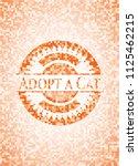 adopt a cat orange mosaic emblem | Shutterstock .eps vector #1125462215