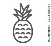 pineapple line icon  fruit and... | Shutterstock .eps vector #1125465014