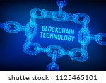 block chain. crypto currency.... | Shutterstock .eps vector #1125465101