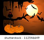happy halloween theme greeting... | Shutterstock . vector #112546649