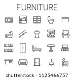 furniture related vector icon... | Shutterstock .eps vector #1125466757