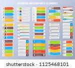 set of business infographics... | Shutterstock .eps vector #1125468101