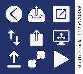 set of 9 arrows filled icons...   Shutterstock .eps vector #1125470369