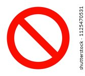 no sign icon  empty red circle... | Shutterstock .eps vector #1125470531