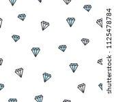 cute seamless pattern of hand... | Shutterstock .eps vector #1125478784