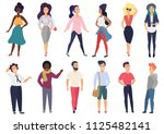 vector illustration in a flat... | Shutterstock .eps vector #1125482141