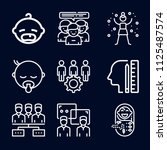 people icon set   outline... | Shutterstock .eps vector #1125487574