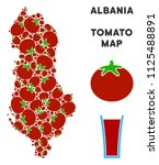 albania map composition of... | Shutterstock .eps vector #1125488891