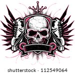 two color grunge vector roller...