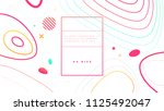 cover template with fluid... | Shutterstock .eps vector #1125492047