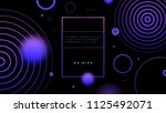 cover template with bauhaus ... | Shutterstock .eps vector #1125492071