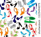 seamless pattern of shoes and... | Shutterstock .eps vector #1125494075