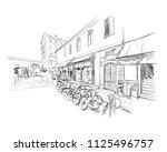 france. nice. market. hand... | Shutterstock .eps vector #1125496757