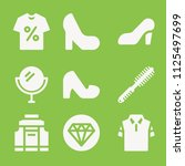 fashion icon set   filled... | Shutterstock .eps vector #1125497699