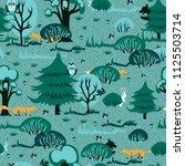 a cheerful pattern for children ... | Shutterstock .eps vector #1125503714