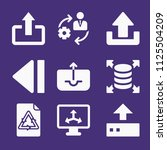 set of 9 arrows filled icons... | Shutterstock . vector #1125504209