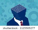 inside businessman brain maze.... | Shutterstock .eps vector #1125505277