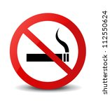 no smoking sign | Shutterstock .eps vector #112550624