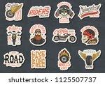 biker club stickers templates.... | Shutterstock .eps vector #1125507737