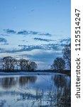 beautiful scenery sunset on the ...   Shutterstock . vector #1125514247