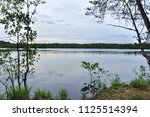 forest lake in nasty cloudy...   Shutterstock . vector #1125514394