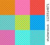 pop art dot backgrounds... | Shutterstock .eps vector #1125514871
