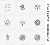 sauna   spa line icon set with... | Shutterstock .eps vector #1125517931