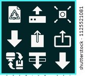 set of 9 arrows filled icons... | Shutterstock . vector #1125521081