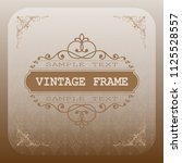 decorative frame in vintage... | Shutterstock .eps vector #1125528557
