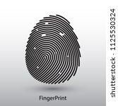 fingerprint icon on background   Shutterstock .eps vector #1125530324
