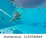 young woman enjoying in the... | Shutterstock . vector #1125530969
