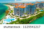 aerial view of fisher island.... | Shutterstock . vector #1125541217