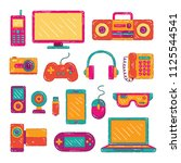 colorful electronic gadget... | Shutterstock .eps vector #1125544541