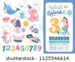 birthday party invitation card... | Shutterstock .eps vector #1125546614