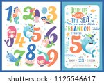 birthday party invitation card... | Shutterstock .eps vector #1125546617