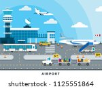 airport zone of arrival and... | Shutterstock .eps vector #1125551864
