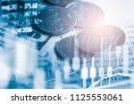 stock market or forex trading... | Shutterstock . vector #1125553061