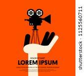 movie and film modern retro... | Shutterstock .eps vector #1125560711