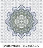 blue and green passport money... | Shutterstock .eps vector #1125564677