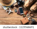 travel accessories costumes.... | Shutterstock . vector #1125568691