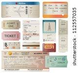 world traveller tickets... | Shutterstock .eps vector #112557035