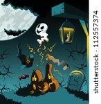 illustration of a halloween... | Shutterstock .eps vector #112557374