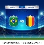 brazil vs belgium scoreboard... | Shutterstock .eps vector #1125576914