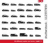 cars icons set 1. 30 different... | Shutterstock .eps vector #112557854