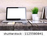 work place concept   mock up...   Shutterstock . vector #1125580841