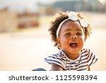 happy african american little...   Shutterstock . vector #1125598394