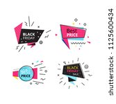 set promotional stickers ...   Shutterstock .eps vector #1125600434