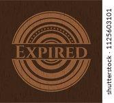 expired wood emblem. retro | Shutterstock .eps vector #1125603101