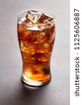 cola glass with ice cubes | Shutterstock . vector #1125606887